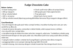Resep Fudge Chocolate Cake
