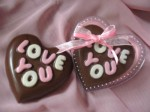 kue coklat love you